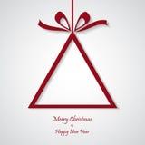 Vector rode Kerstmisachtergrond besnoeiingsdocument ontwerp Stock Afbeelding
