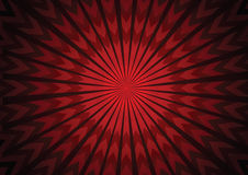 Vector rode pijl starburst abstracte achtergrond Stock Afbeelding