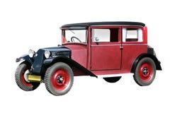 Vector rode retro auto stock illustratie
