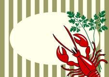 Vector rode zeekreeftachtergrond Stock Foto