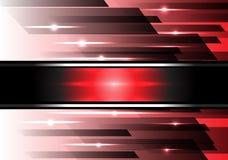 Vector rojo abstracto de la tecnología de la velocidad del negro del poder Fotos de archivo