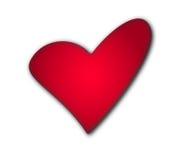 Vector rojo aislado del corazón imagenes de archivo