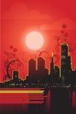 Vector rojo de la noche Fotografía de archivo