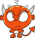 Vector rojo del diablo del monstruo Imágenes de archivo libres de regalías