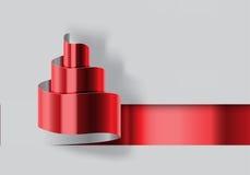 Vector rojo del diseño del corte del papel del árbol de navidad Imagenes de archivo