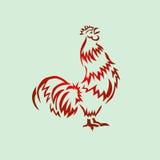 Vector rojo del gallo Fotos de archivo