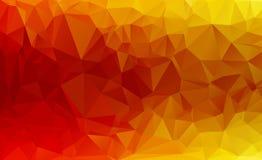 Vector rojo del polígono infographic Foto de archivo