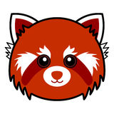 Vector rojo lindo de la panda Foto de archivo libre de regalías