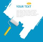 Vector roller brush, white background Stock Image