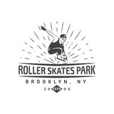 Vector of roller skating label, badge and design elements Stock Photography