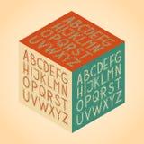 The vector Roman alphabet. Vintage retro isometric hand draw vector full alphabet set for games presentations, ui tablets, smart phones Stock Photo