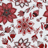 Vector romantic doodle floral pattern Royalty Free Stock Image