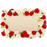 Vector Romantic Flower Board Royalty Free Stock Photo
