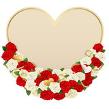 Vector Romantic Flower Card Royalty Free Stock Images