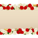 Vector Romantic Flower Frame Royalty Free Stock Image