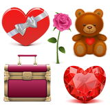 Vector Romantic Icons Royalty Free Stock Photo
