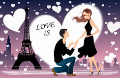Vector romantic illustration Stock Photos