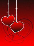 Vector romatic heart wallpaper Royalty Free Stock Images