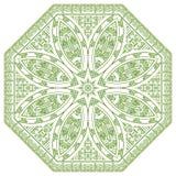 Vector rond decoratief ontwerpelement Stock Afbeelding