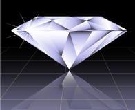 Vector ronde briljante besnoeiingsdiamant Stock Afbeelding