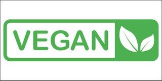 Vector ronde eco, bio groen embleem of teken Ruw, gezond voedselkenteken, markering voor koffie, restaurants, verpakking Hand het vector illustratie