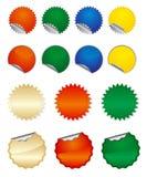 Vector ronde stickers Stock Afbeelding