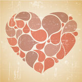 Vector rood abstract retro hart Stock Foto