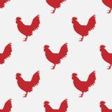 Vector rood haanpatroon Royalty-vrije Stock Fotografie
