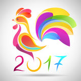Vector Rooster. China New Year Greeting Card. For your design Royalty Free Stock Photos