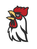Vector Rooster Head. Symbol on white background Royalty Free Stock Photography