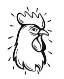 Vector Rooster Head. Symbol on white background Royalty Free Stock Image