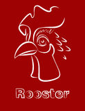 Vector rooster  sketch  symbol of the year Royalty Free Stock Images