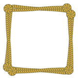 Vector rope frame. Border square shape vector illustration Stock Photo