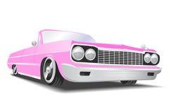 Vector rosado cadillac Fotos de archivo