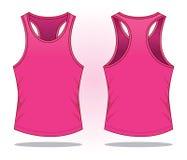 Vector rosado de las camisetas sin mangas para la plantilla stock de ilustración