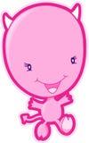 Vector rosado del diablo Fotos de archivo libres de regalías