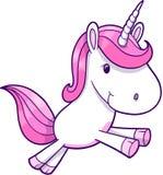 Vector rosado del unicornio ilustración del vector