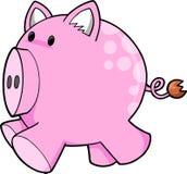 Vector rosado lindo del cerdo Fotos de archivo