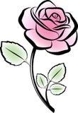 Vector rose. Background illustration royalty free illustration