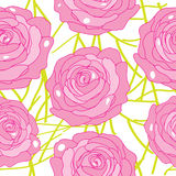 Vector rose on an abstract background Royalty Free Stock Photo