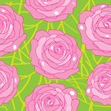 Vector rose on an abstract background Stock Images