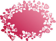 Vector rose banner Royalty Free Stock Images
