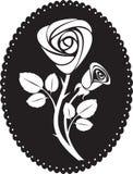 Vector rose card Stock Photos