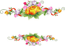Vector rose flower frame Royalty Free Stock Image