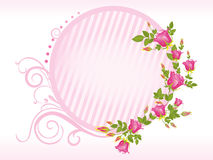 Vector rose flower frame Royalty Free Stock Photos