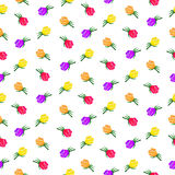Vector rose flower pattern Royalty Free Stock Images