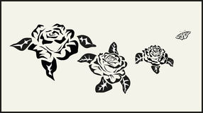Vector Rose . icons .tattoo . Royalty Free Stock Images