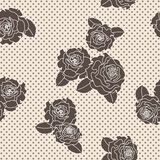 Vector rose seamless pattern Royalty Free Stock Photo