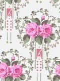Vector rose seamless vicrotian wallpaper pattern decorative. Vector rose seamless wallpaper pattern vector illustration