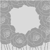 Vector rose wreath frame for greetings Stock Photography